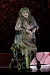 RUSALKA by Dvorak; Royal Opera House; Covent Garden; London, UK; 25 February 2012; General rehearsal; AGNES SWIERKO as Jezibaba; YANNICK NÉZET-SÉGUIN - Conductor; JOSSI WIELER and SERGIO MORABITO - Directors; BARBARA EHNES - Set designs; ANJA R